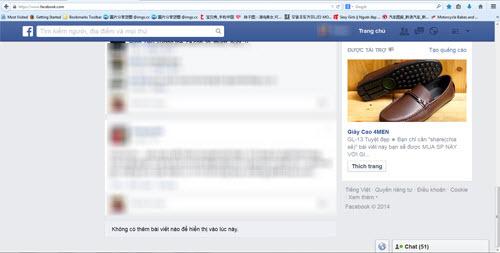 HOT: Facebook dính lỗi không hiển thị nội dung - 1