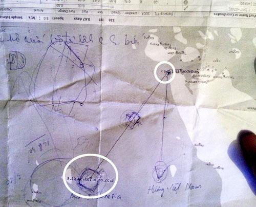Tàu Sunrise của VN đã chệch hướng trước khi mất tích - 1