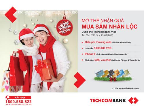 """Rộn ràng Giáng sinh, rinh quà """"khủng"""" từ Techcombank Visa - 1"""