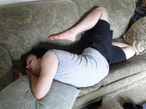 Ngủ cũng tạo dáng cười đau ruột - 1