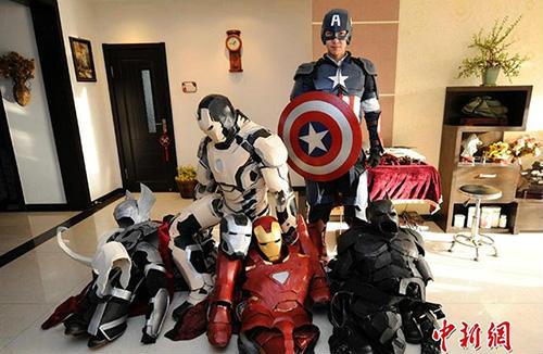 Sinh viên Trung Quốc chế tạo giáp Avengers như thật - 1