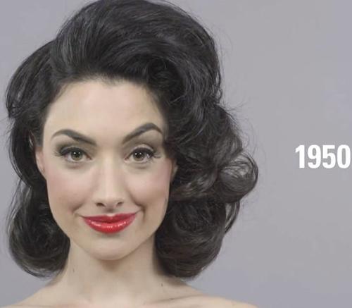 Ngắm vẻ đẹp phụ nữ 100 năm qua chỉ trong 1 phút - 1