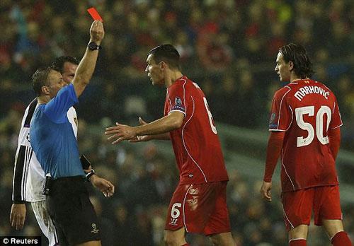Liverpool bị loại, HLV Rodgers cay cú trọng tài - 1