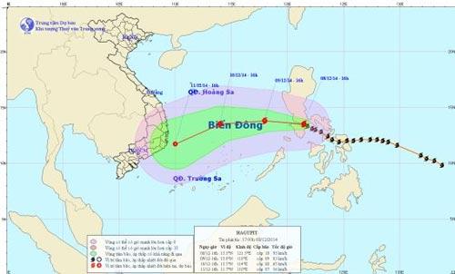 Bão Hagupit giật cấp 11 hướng vào Khánh Hòa-Bình Thuận - 1