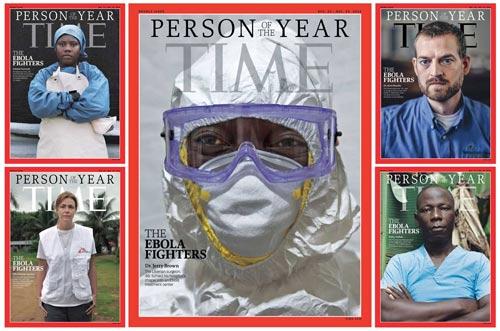 """""""Chiến sĩ chống Ebola"""" trở thành Nhân vật của năm - 1"""