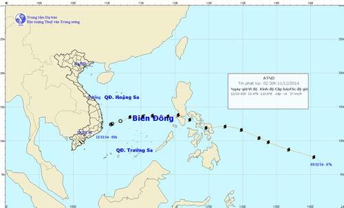 Bão số 5 suy yếu thành áp thấp nhiệt đới - 1