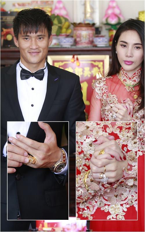 Cận cảnh trang sức đắt tiền của Thủy Tiên trong lễ cưới - 1