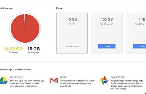 Cần làm gì khi Gmail bị đầy thư? - 1