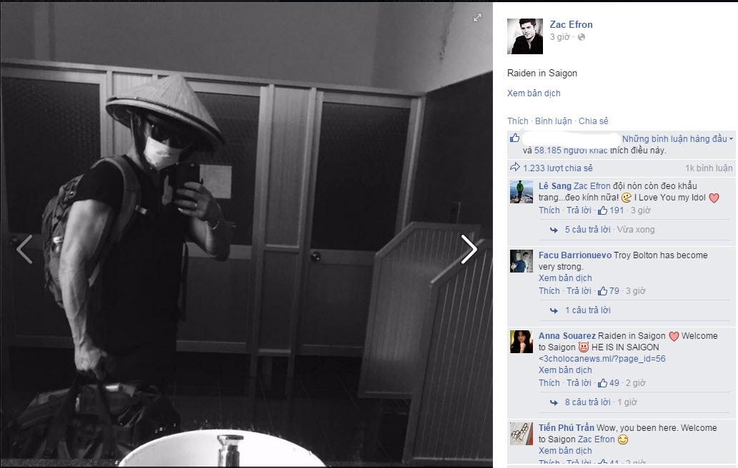 """Fan """"sướng rơn"""" vì Zac Efron có mặt ở Việt Nam - 1"""