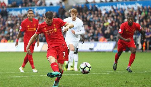 """Swansea – Liverpool: """"Món quà"""" cuối trận - 1"""