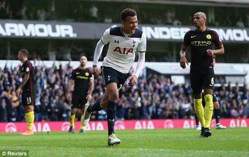 """Man City đứt mạch bất bại, Pep """"cúi đầu"""" trước Tottenham - 1"""