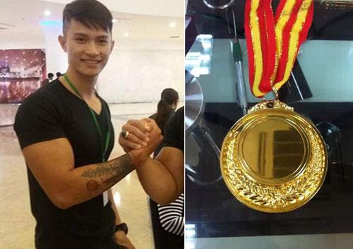 Nóng: 1 mình đi thi, chàng trai Việt vô địch vật tay thế giới - 1