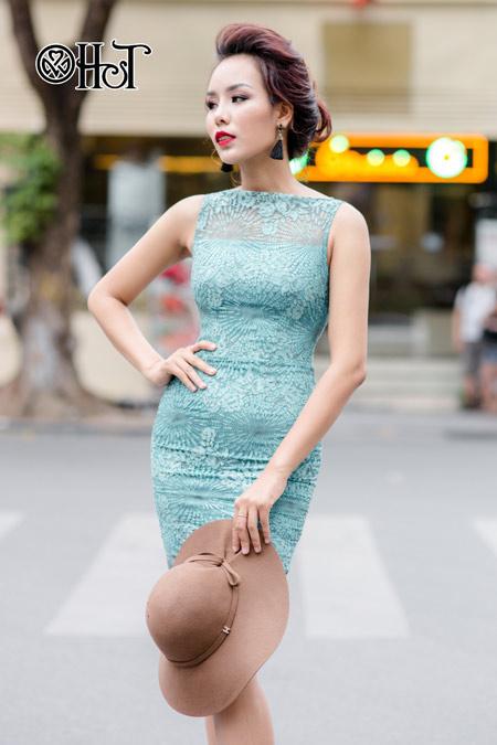 Váy ren ngọt ngào cho ngày thu nắng - 1