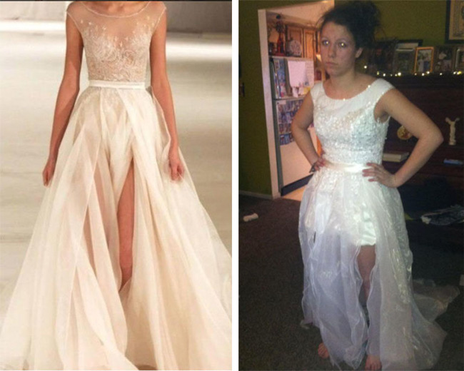 Mất đống tiền đặt váy cưới... nhưng sản phẩm thế này ai dám mặc chứ!