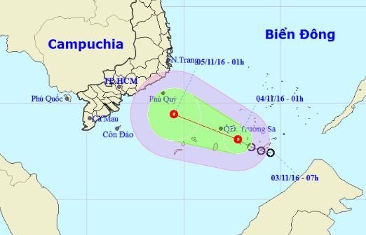 Chiều tối nay, áp thấp nhiệt đới gây mưa dông ở Nam Bộ - 1