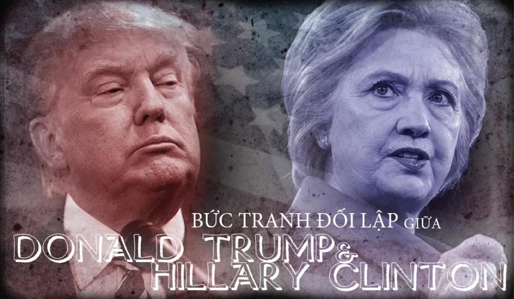 [Đồ họa] Khác nhau như nước với lửa giữa Trump và Clinton - 1