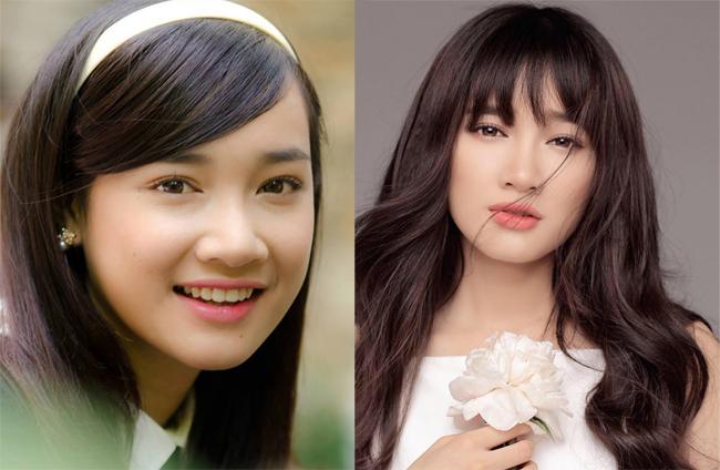 Mới đây, Nhã Phương đã xác nhận chuyện cô sửa mũi. Trước khi nổi tiếng, người đẹp phim 49 ngày có phần sống mũi bẹt, cánh mũi dày và to.