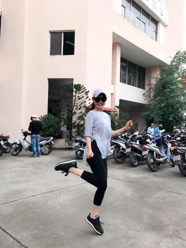 Nữ diễn viên Quả tim máu hào hứng khoe dáng dù đang đi học võ.