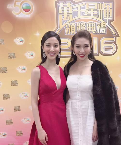 """Khổng Tú Quỳnh đẹp """"lấn lướt"""" hoa hậu HK tại lễ trao giải - 1"""