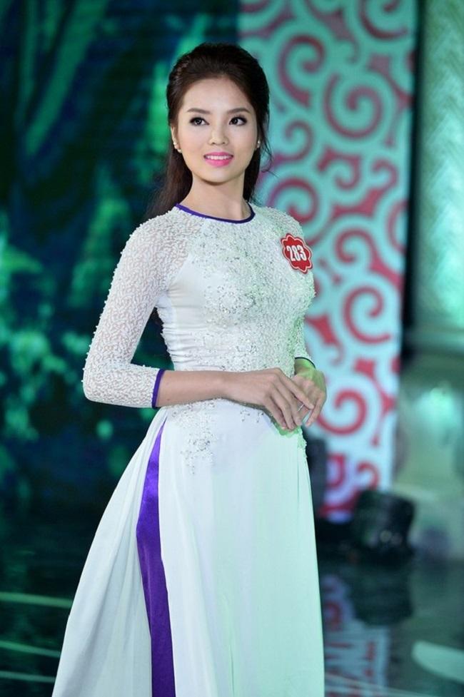 Cận cảnh gương mặt của hoa hậu Kỳ Duyên khi đi hoa hậu cách đây hơn 2 năm.