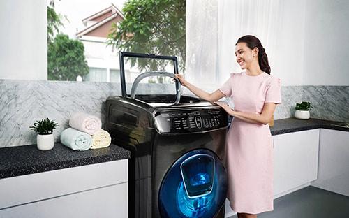 Máy giặt FlexWash thiết kế 2 lồng giặt giúp việc giặt giũ trở nên việc nhỏ - 2