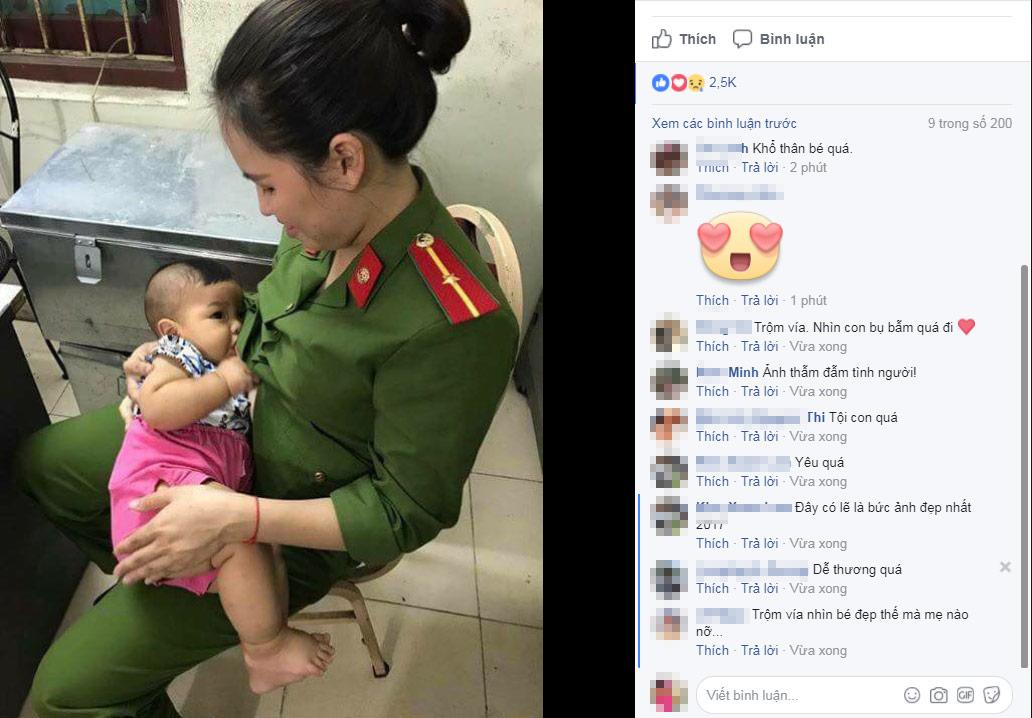 Thông tin mới vụ bé trai bị bỏ rơi được nữ cảnh sát cho bú - 1