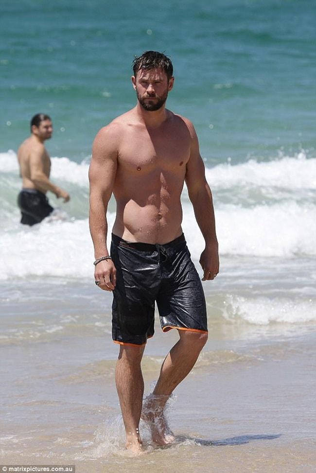 Chris Hemsworth là một nam diễn viên có cơ thể đáng mơ ước.