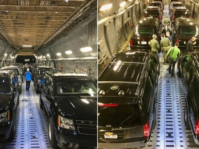 """Lộ hình ảnh siêu xe """"Quái thú"""" ông Trump sẽ đem đến Việt Nam"""