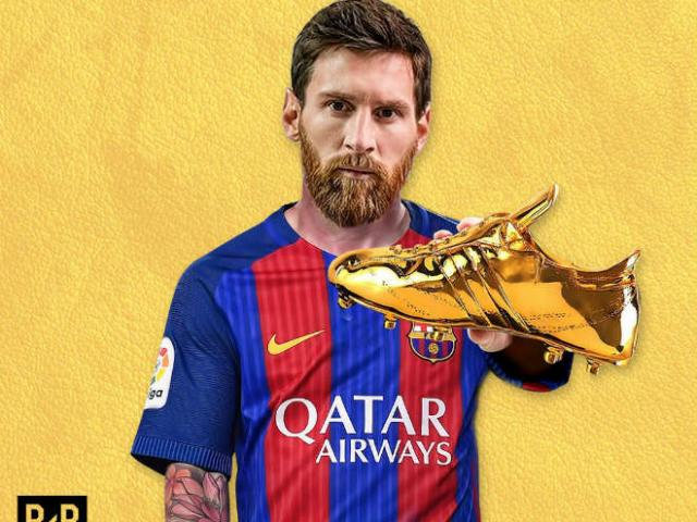 """Đua """"Chiếc giày vàng 2017"""", Messi đề phòng """"kẻ lạ mặt"""""""