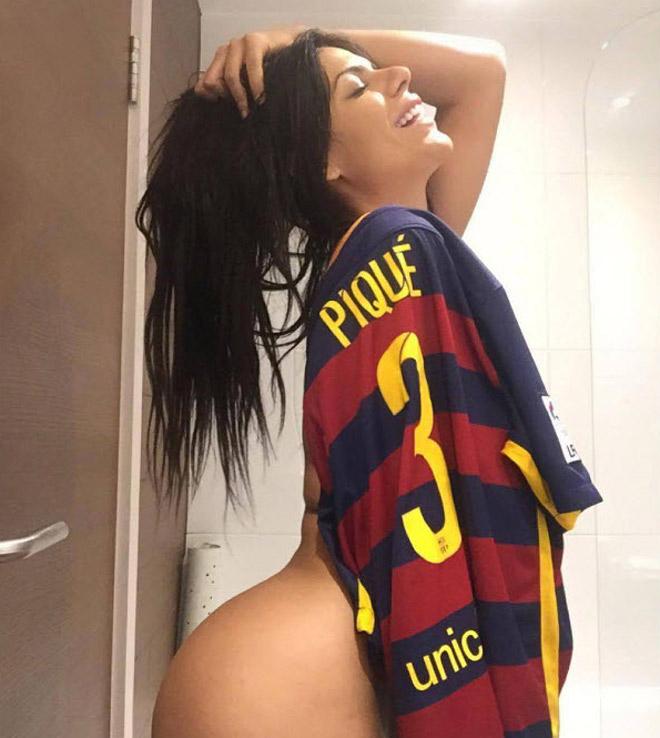 """Hoa hậu siêu vòng 3 Brazil lại """"cởi đồ"""" để thổ lộ tình yêu với Messi - 2"""