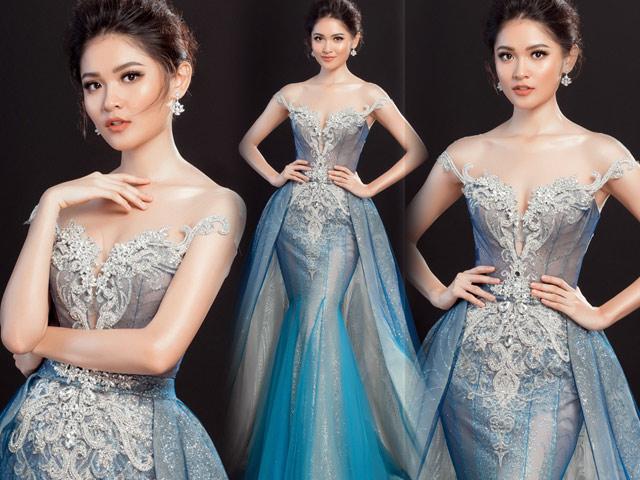 """Lộ váy dạ hội """"đụng hàng"""" Huyền My của Thùy Dung tại HH Quốc tế"""