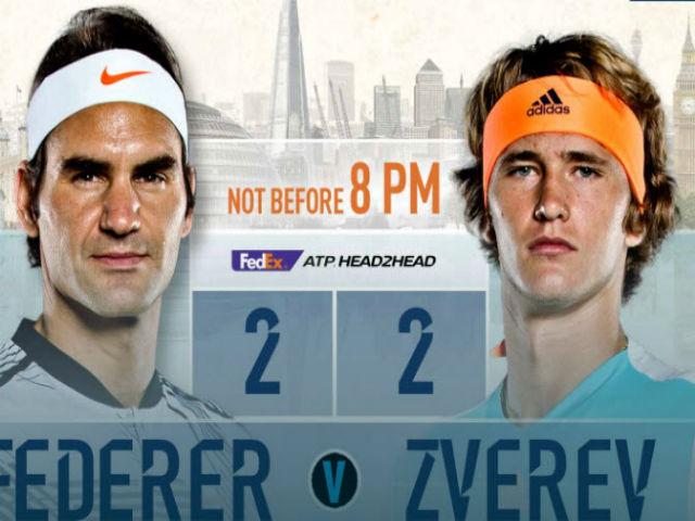 """Trực tiếp tennis ATP Finals ngày 3: Zverev quyết hạ Federer, đòi nợ cho """"sư phụ"""""""