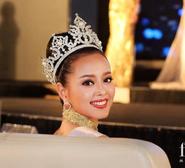 Cận cảnh gương mặt khả ái của Hoa hậu Quốc tế Lào 2017.