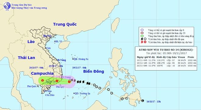 Bão số 14 đổ bộ vào Khánh Hòa – Bình Thuận, suy yếu thành áp thấp nhiệt đới - 1