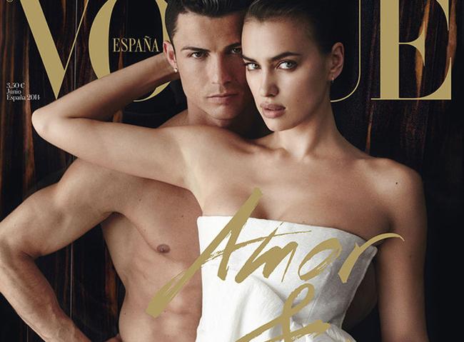 """Trên thế giới cũng có không ít các mỹ nhân được ngỏ ý trả thù lao khổng lồ để mời chụp ảnh nude. Cặp đôi một thời cầu thủ bóng đá Ronaldo và siêu mẫuIrina Shayk từng được tạp chíthời trang danh tiếngVoguebỏ ra """"một núi tiền"""" để mời chụp hình khỏa thân."""