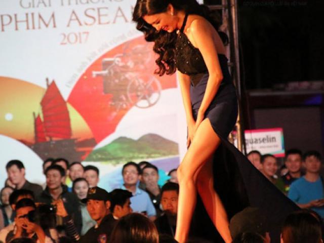 MC Mỹ Linh gặp sự cố hớ hênh trên thảm đỏ LHP Việt Nam 20