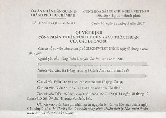 Vợ chồng Trương Quỳnh Anh lộ đơn ly hôn dù luôn khẳng định hạnh phúc - 1