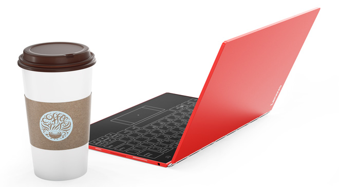 Quà siêu hấp dẫn khi đặt mua Lenovo Yoga Book màu đỏ ấn tượng - 1