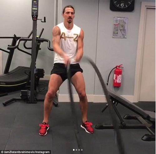 """Đằng sau cơ bắp đồ sộ của """"gã điên sân cỏ"""" Zlatan Ibrahimovic - 1"""