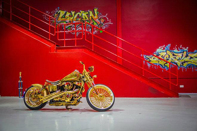 """Ngắm """"núi vàng di động"""" Harley Davidson Custom - 11"""