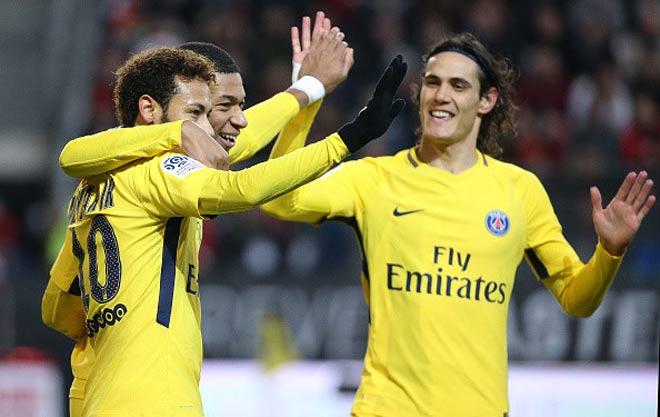 "Rennes - PSG: Neymar rực rỡ, tam tấu 465 triệu euro ""nhảy múa"" - 1"