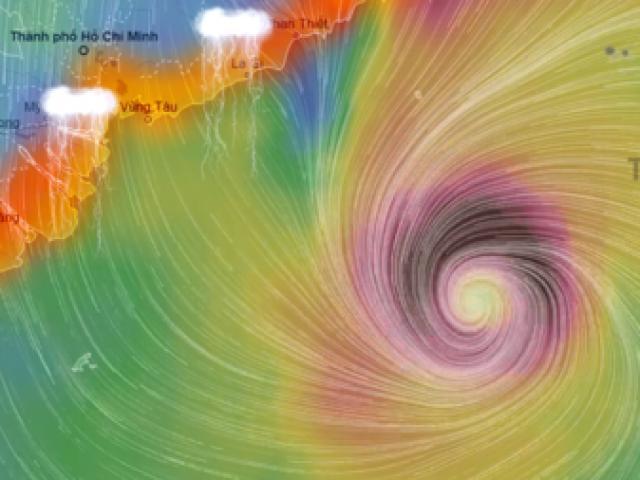 """Bản tin bão 18h: Bão """"Trâu Mộng"""" tăng cấp, hướng vào Nam Bộ"""