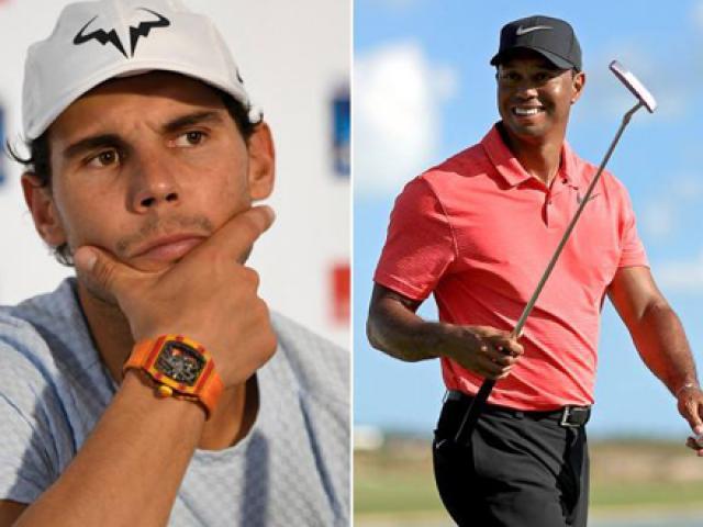 """Golf 24/7: """"Vua tennis"""" Nadal mách bí kíp thần thánh cho Tiger Woods"""