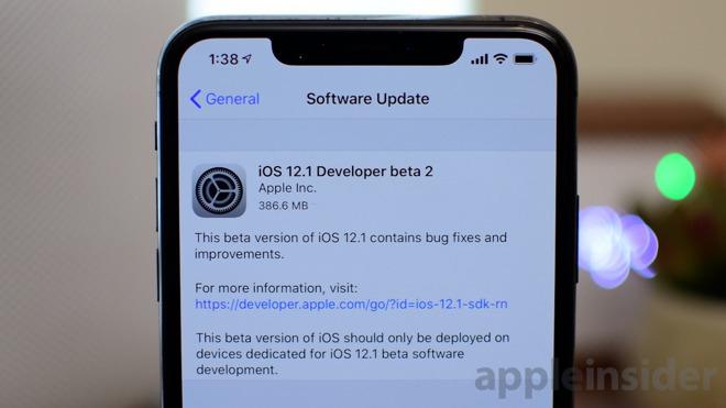 Apple tung iOS 12.1 beta 2, sửa lỗi sạc pin trên iPhone Xs và Xs Max - 1
