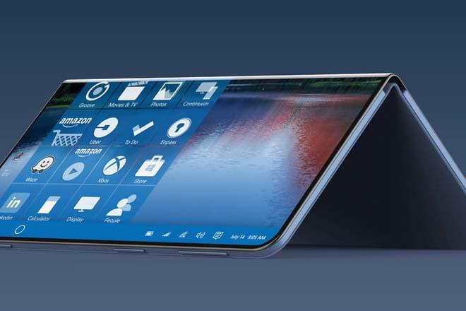 NÓNG: Smartphone có thể gập của Microsoft quá đẹp, chạy hệ điều hành mới - 1