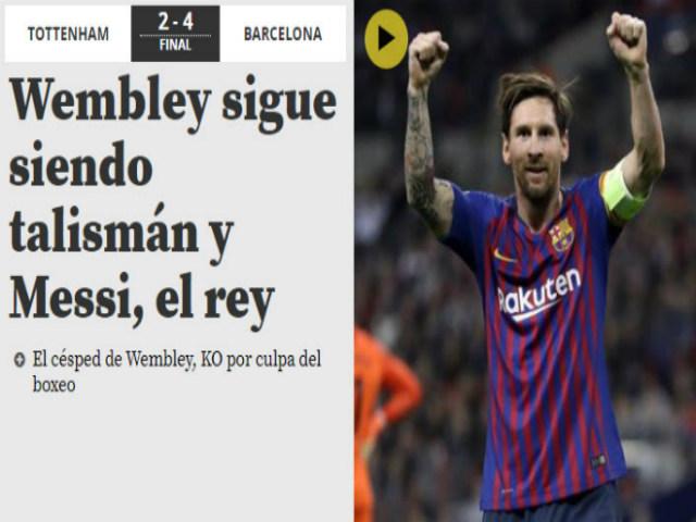"""Barca đả bại Tottenham: Báo Anh khâm phục """"Người ngoài hành tinh"""" Messi"""