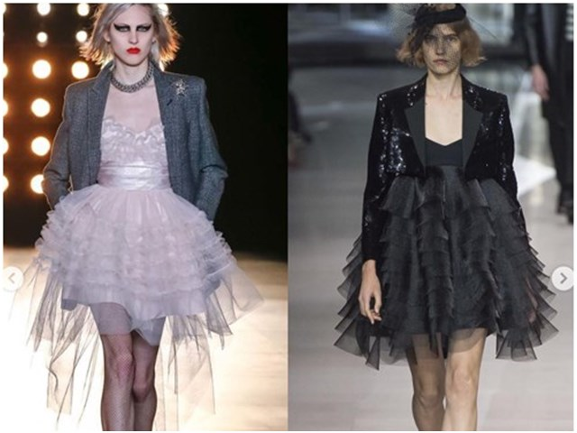 Vừa được khen, Céline bị tố đạo nhái 100% thiết kế của Saint Laurent?