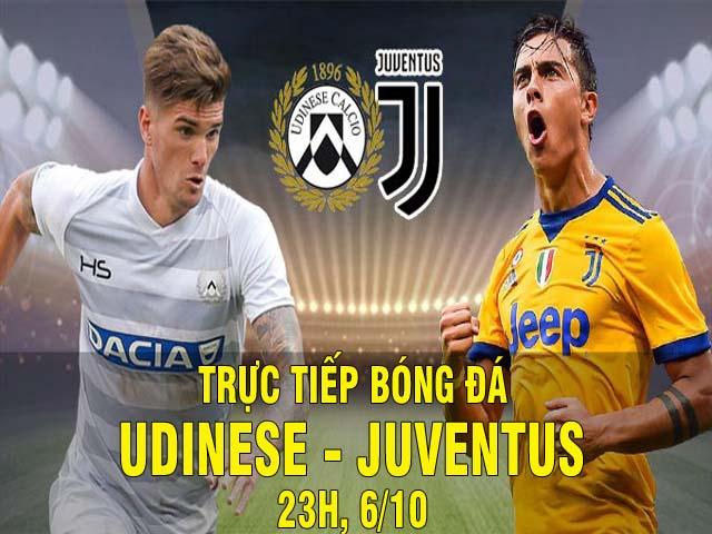 Trực tiếp bóng đá Udinese - Juventus: Ronaldo dứt điểm trái phá nâng tỷ số