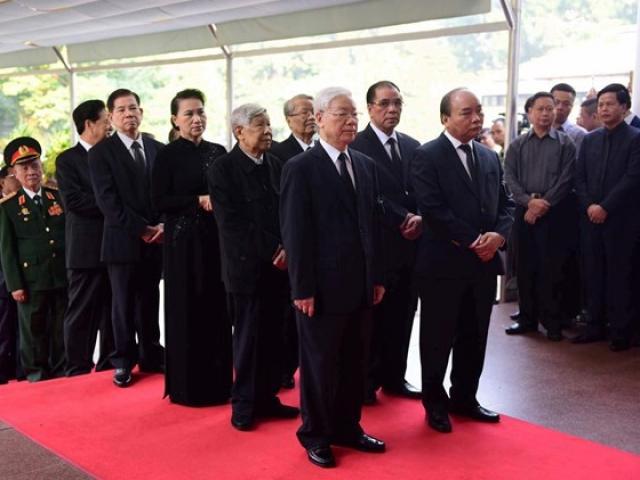 Trực tiếp lễ viếng Nguyên Tổng Bí thư Đỗ Mười