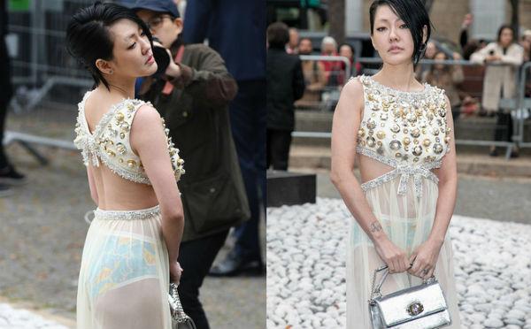 Từ Hy Đệ mặc luộm thuộm tại Tuần thời trang Paris - 1